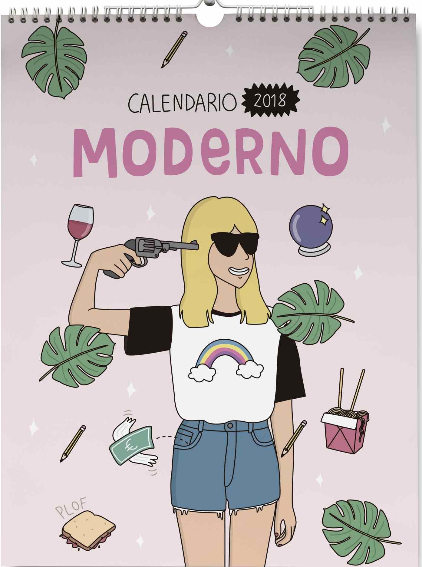 tan tan fan calendario pared 2018 moderna de pueblo-8432715094685