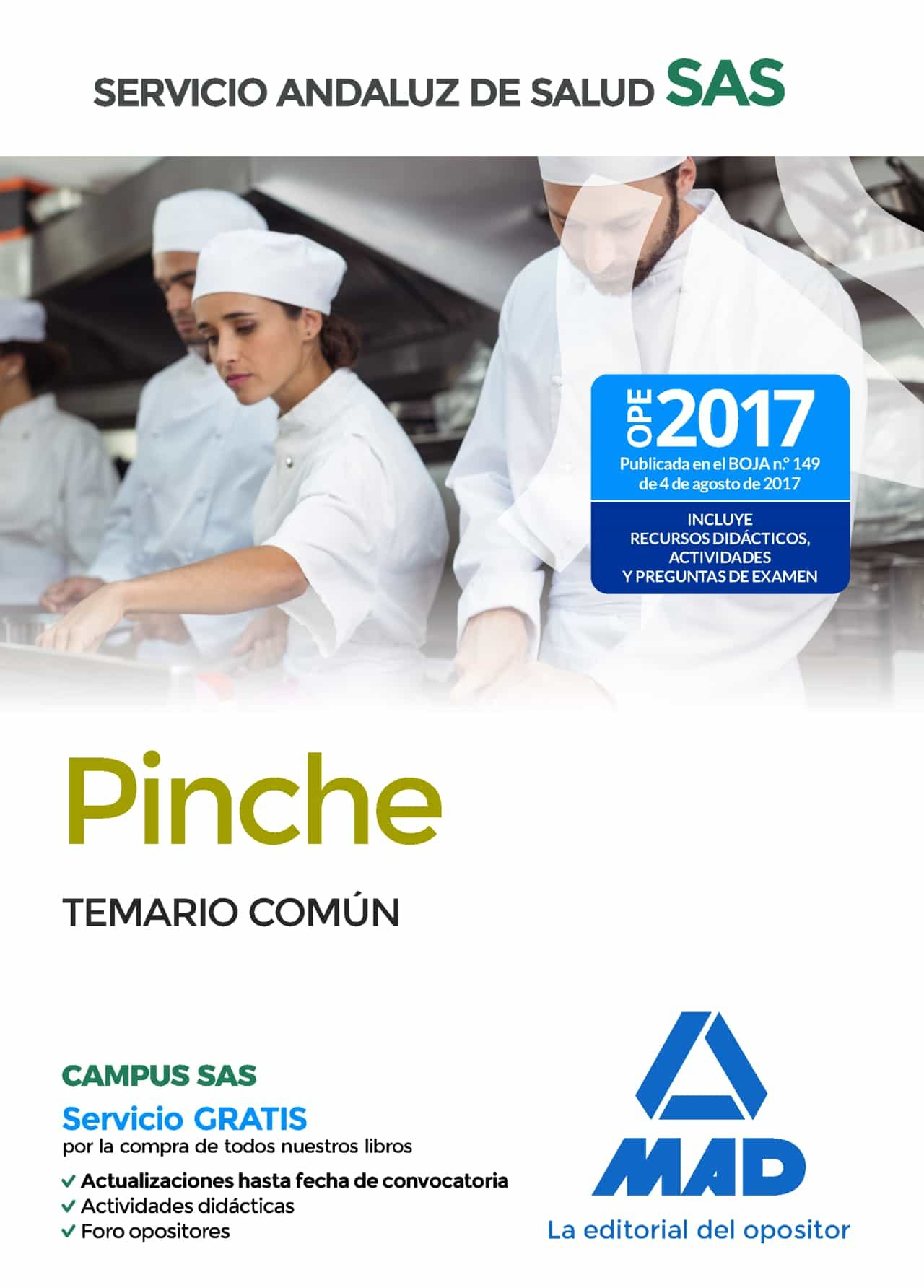 Pinche Del Servicio Andaluz De Salud: Temario Comun por Vv.aa.