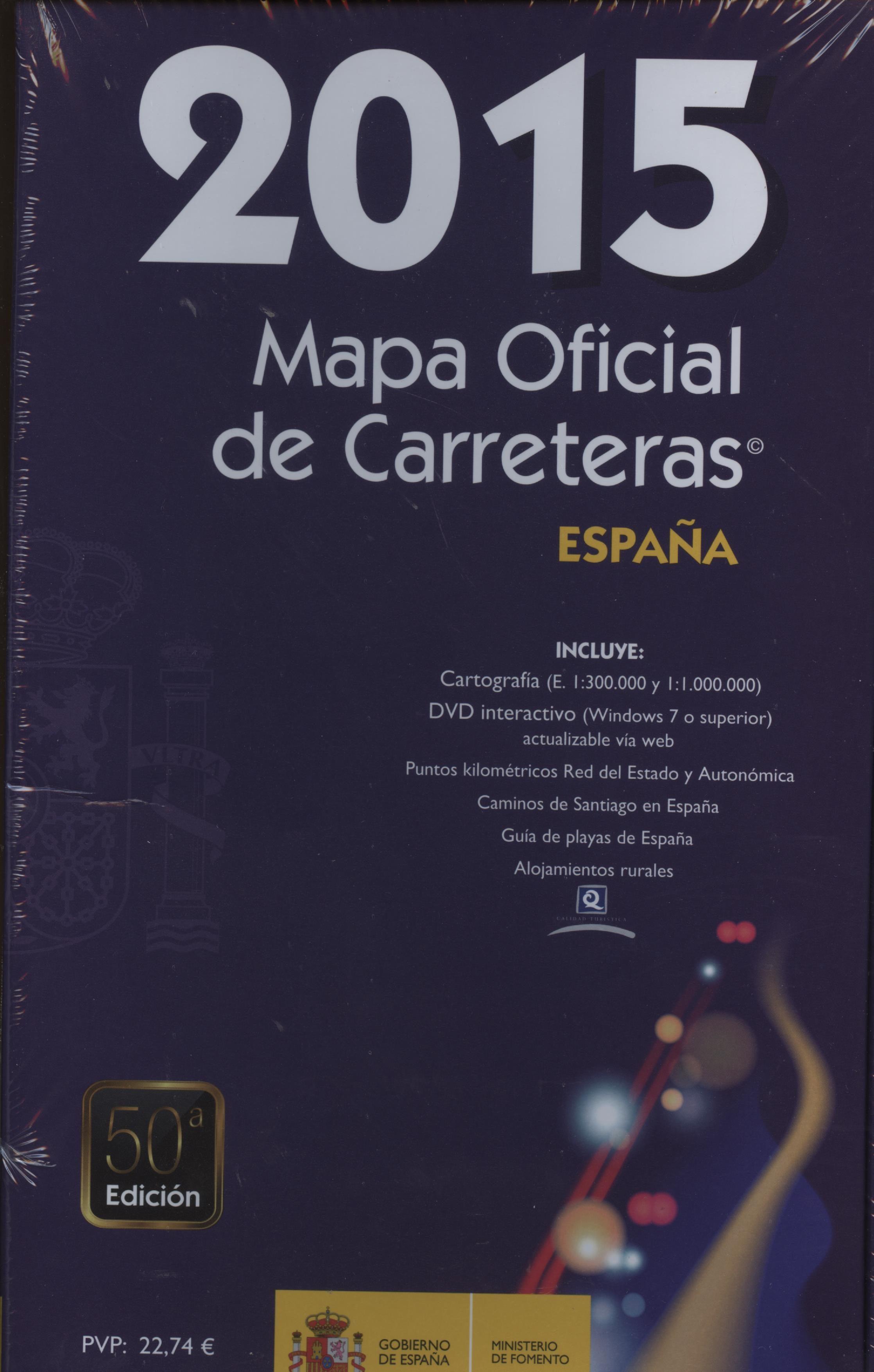MAPA OFICIAL DE CARRETERAS ESPAA 2015 50 ED  VVAA