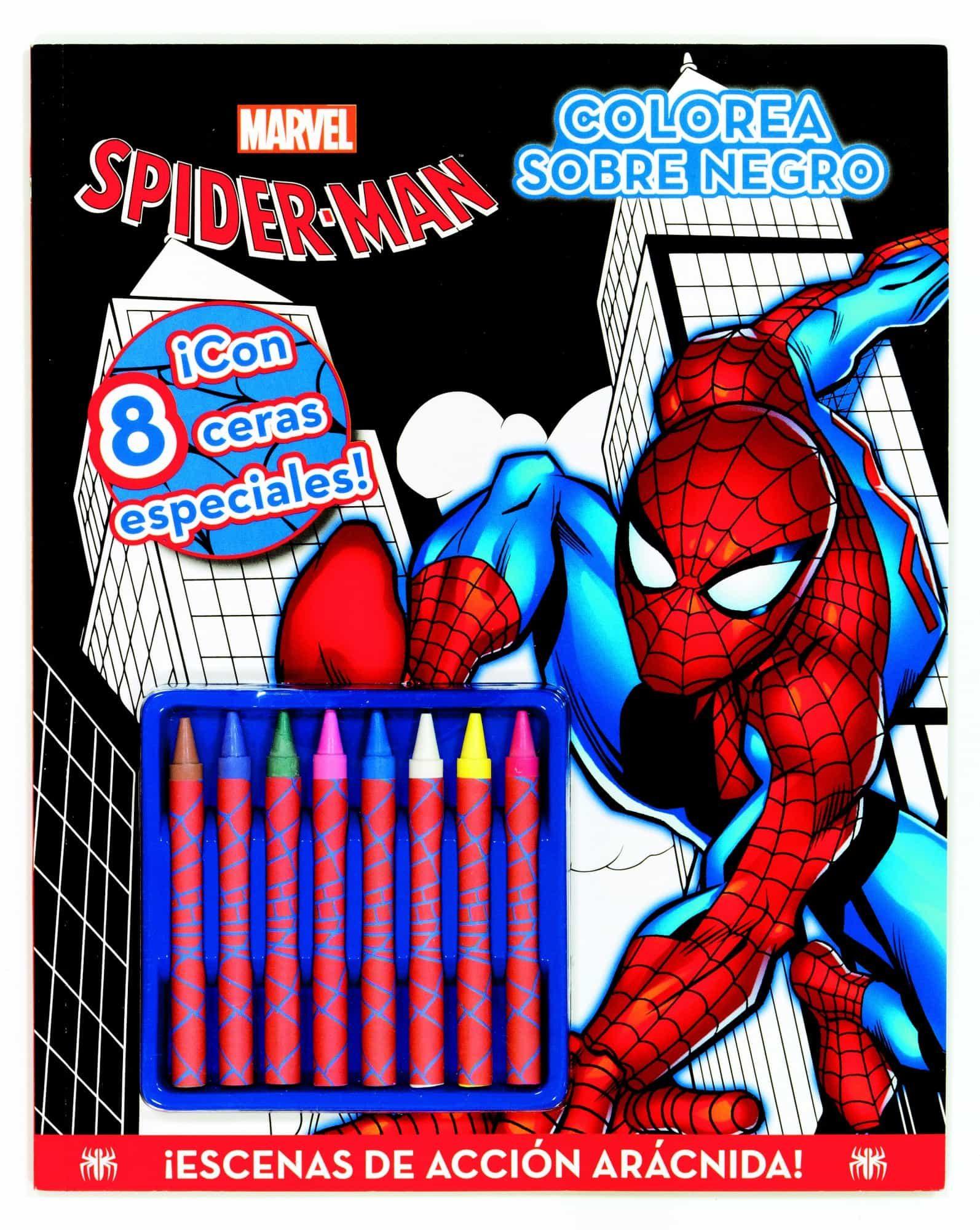 SPIDERMAN COLOREA SOBRE NEGRO | VV.AA. | Comprar libro 9788415343523