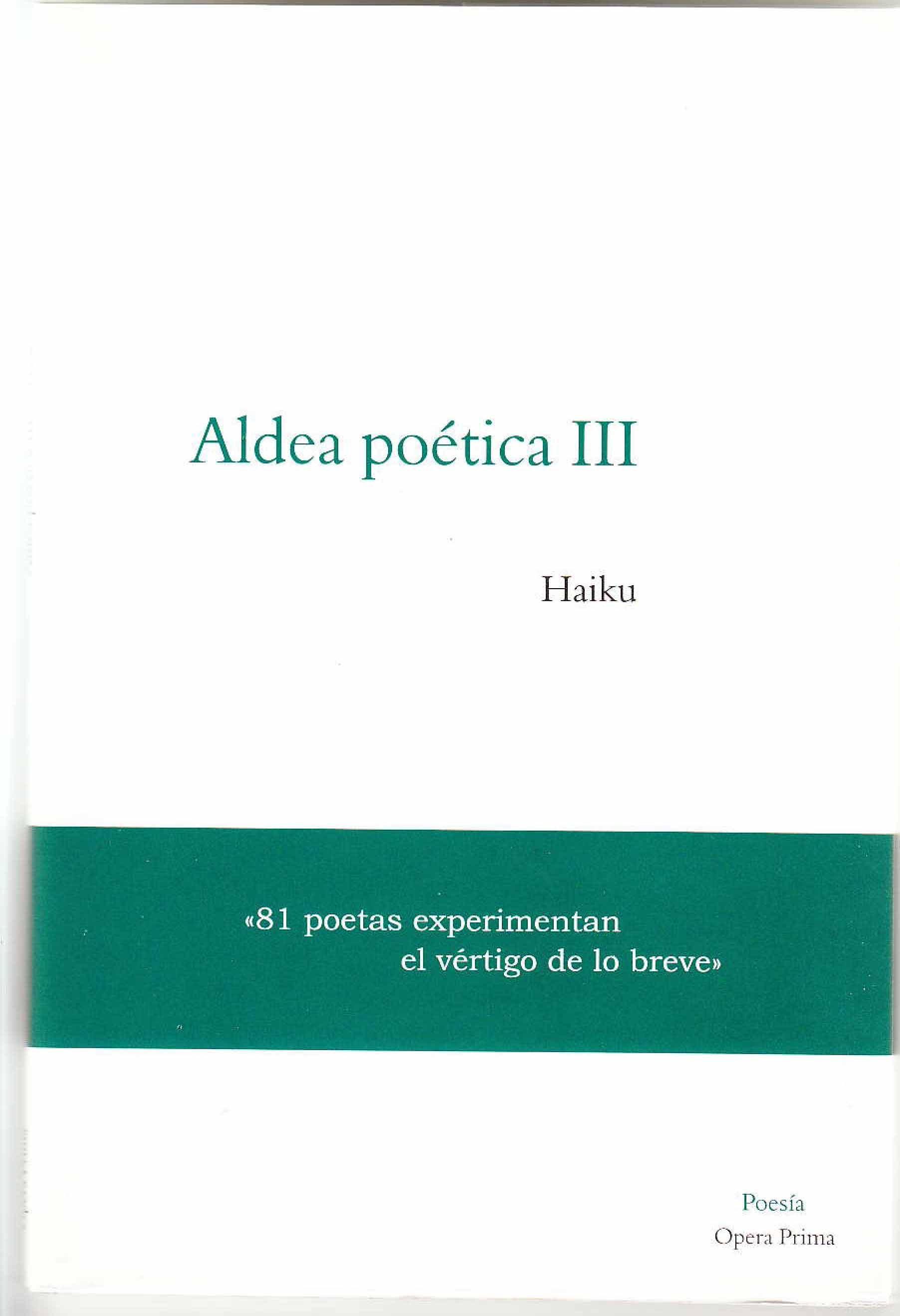 Aldea Poetica Iii: Haiku por Vv.aa. epub