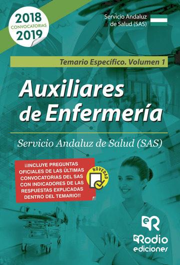 Auxiliares De Enfermería. Servicio Andaluz De Salud (sas) Temario Específico Volumen 1   por Vv.aa.