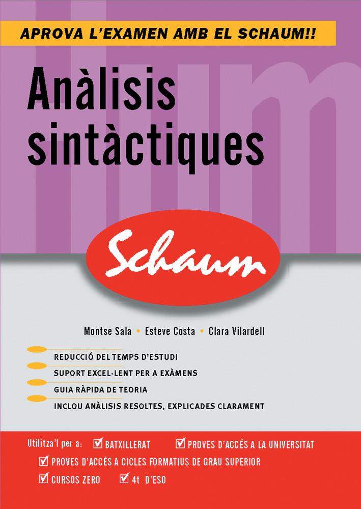 Analisis Sintactiques: Schaum Selectivitat por Montse Sala epub
