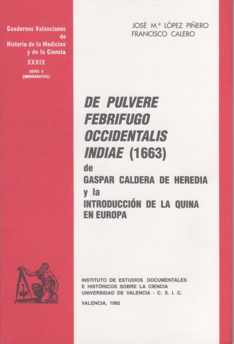 Resultado de imagen de De pulvere febrifugo occidentalis Indiae