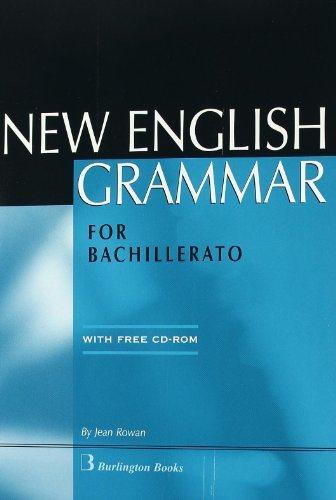 new english grammar for bachillerato (incluye cd-rom)-jean rowan-9789963471843