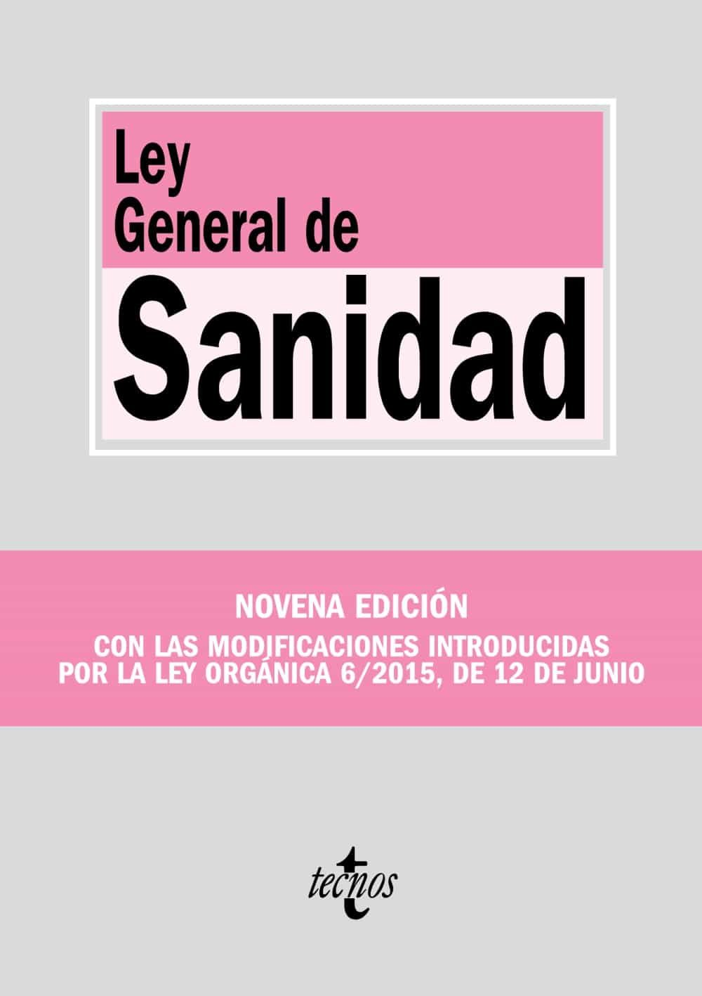Ley General De Sanidad (9ª Ed.) por Vv.aa.