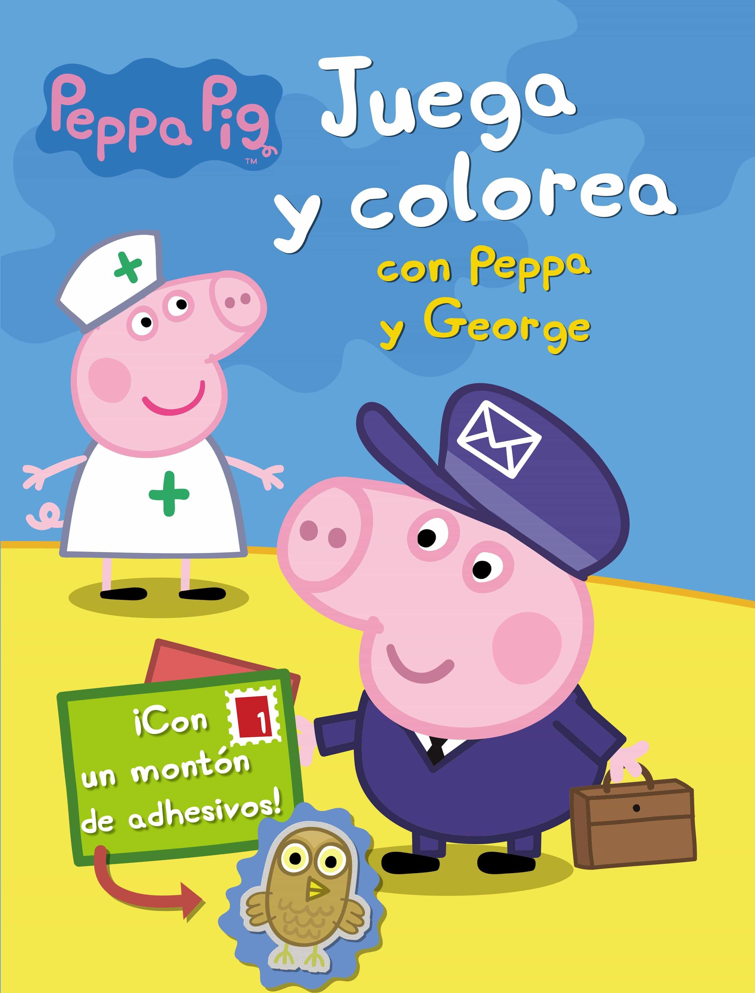 PEPPA PIG: JUEGA Y COLOREA CON PEPPA Y GEORGE | VV.AA. | Comprar ...