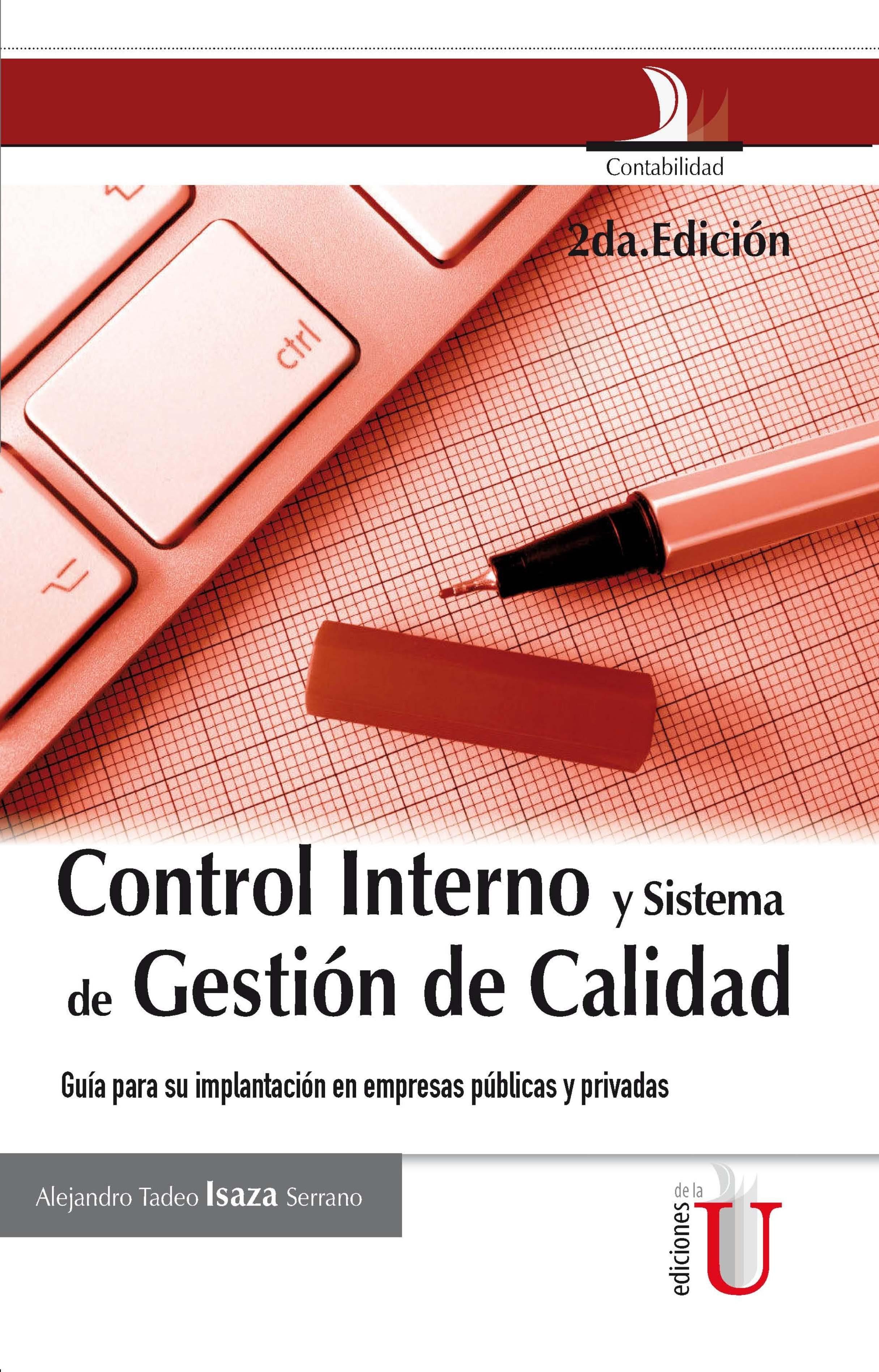 CONTROL INTERNO Y SISTEMA DE GESTION DE CALIDAD EBOOK ... @tataya.com.mx 2021