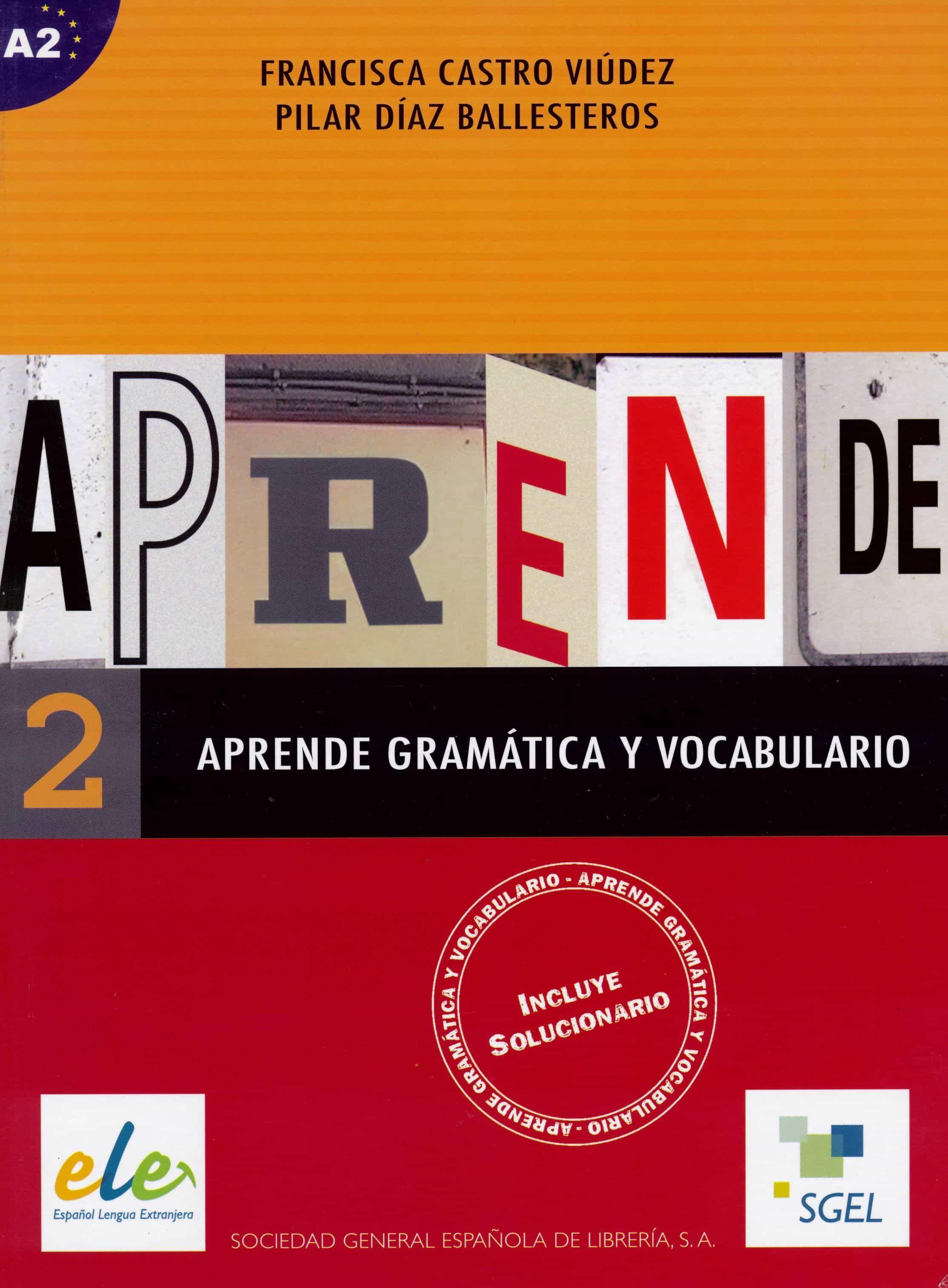 Aprende Gramatica Y Vocabulario 2 por Vv.aa.