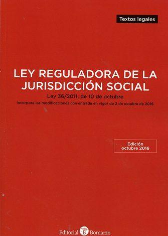 Ley Reguladora De La Jurisdiccion Social: Ley 36/2011, De 10 De Octubre por Vv.aa. epub