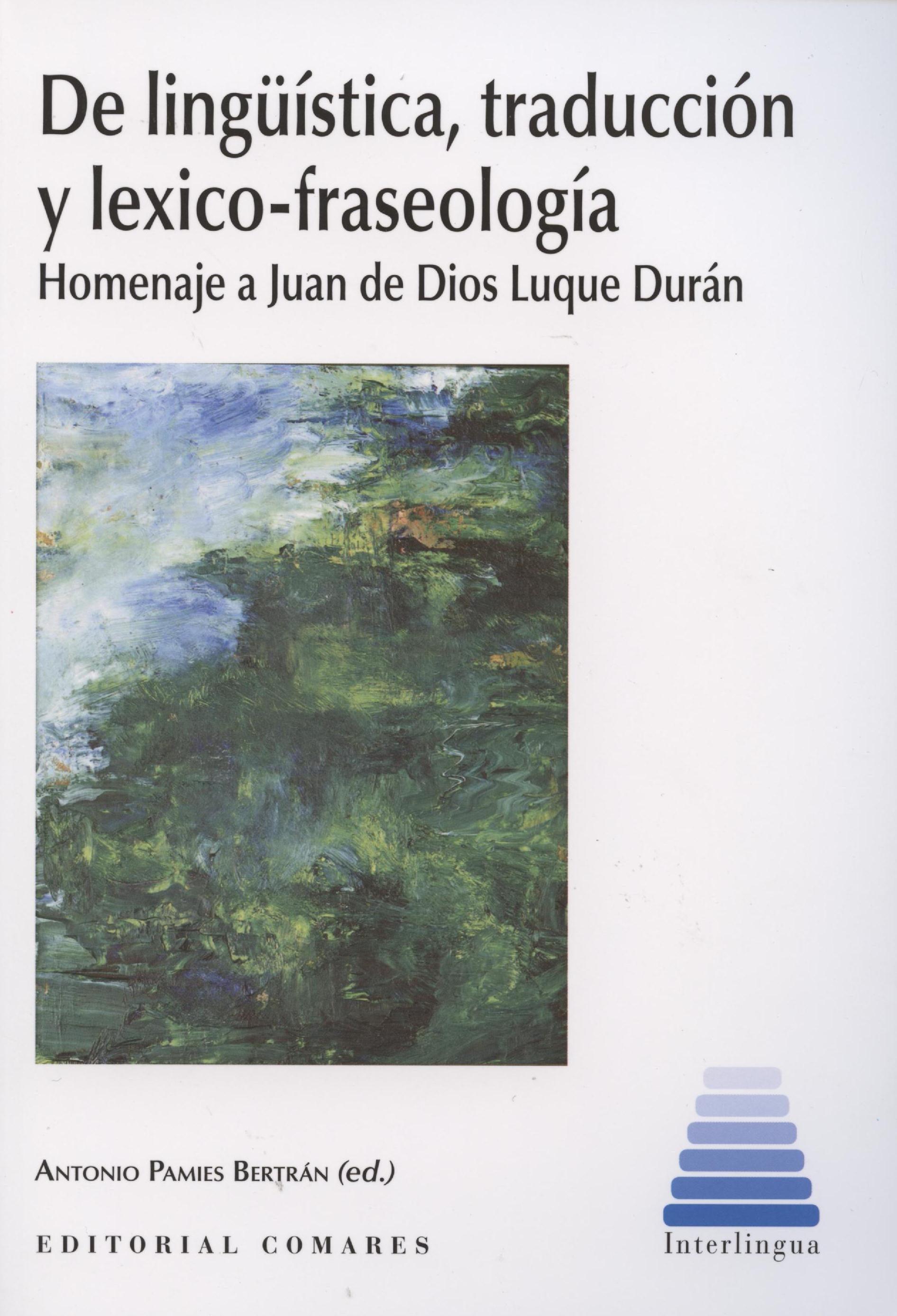 DE LINGUISTICA, TRADUCCION Y LEXICO-FRASEOLOGIA | ANTONIO PAMIES ...