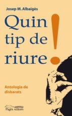 QUIN TIP DE RIURE! (PDF) (EBOOK)