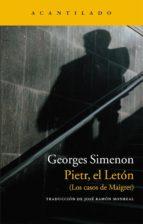 pietr, el leton: los casos de maigret-georges simenon-9788415689003
