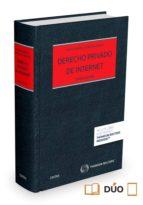 derecho privado de internet-pedro alberto de miguel asensio-9788447047703