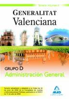 GRUPO D ADMINISTRACION GENERAL. GENERALITAT VALENCIANA. TEMARIO V OLUMEN II