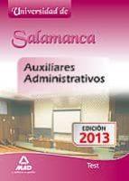 AUXILIARES ADMINISTRATIVOS DE LA UNIVERSIDAD DE SALAMANCA. TEST