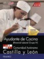 AYUDANTE DE COCINA (PERSONAL LABORAL GRUPO IV). COMUNIDAD AUTONOMICA CASTILLA Y LEON. TEMARIO