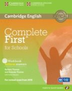 complete first for schools for spanish speakers workbook without answers with audio cd 9788483239803