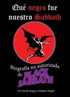 qué negro fue nuestro sabbath david tangye 9788494274503