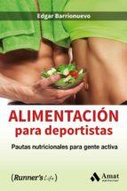 alimentación para deportistas edgar barrionuevo 9788497358903