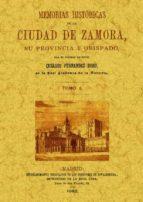 memorias historicas de la ciudad de zamora (4 tomos) (ed. facsimil) cesareo fernandez duro 9788497610803