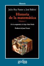 historia de la matemática julio rey pastor jose babini 9788497847803