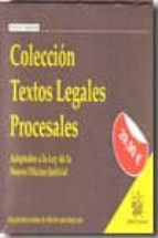 coleccion textos legales procesales: adaptados a la ley de la nue va oficina judicial-juan luis gomez colomer-juan montero aroca-9788498768503