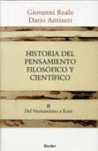 HISTORIA PENSAMIENTO FILOSOFICO CIENTIFICO TOMO II (4ª ED.)