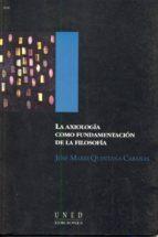 LA AXIOLOGÍA COMO FUNDAMENTACIÓN DE LA FILOSOFÍA (EBOOK)