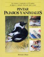 PINTAR PAJAROS Y ANIMALES: LAS TECNICAS Y MATERIALES DE 22 CUADRO S DE PAJAROS Y ANIMALES ILUSTRADAS PASO A PASO