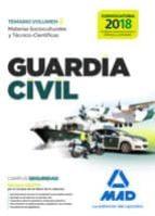 guardia civil temario para la preparación de oposición. materias socioculturales y técnico científicas volumen 2 9788414210413