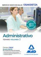 administrativos del servicio vasco de salud-osakidetza. temario volumen 2-9788414215913