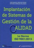 implantación de sistemas de gestión de la calidad-jose manuel sanchez rivero-9788416671113