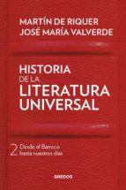 historia de la literatura universal ii martin de riquer jose maria valverde 9788424938413