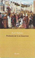 profesion de fe en jesucristo-karl rahner-9788425436413