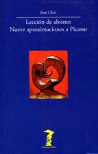lección de abismo. nueve aproximaciones a picasso (ebook) jean clair 9788491140313
