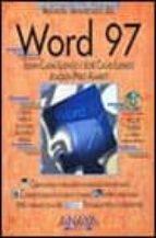 WORD 97 (MANUALES AVANZADOS) (INCLUYE CD-ROM)