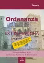ORDENANZAS. PERSONAL LABORAL DE LA COMUNIDAD DE EXTREMADURA. TEMA RIO