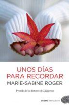 UNOS DÍAS PARA RECORDAR (EBOOK)