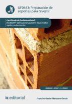 PREPARACIÓN DE SOPORTES PARA REVESTIR. EOCB0209 (EBOOK)