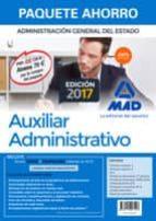 paquete ahorro auxiliar administrativo del estado (incluye temari os 1 y 2, test, ejercicios, psicotecnicos, simulacros examen-9788414207123