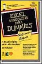 EXCEL WINDOWS 95 PARA DUMMIES REFERENCIA RAPIDA