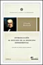 introduccion al estudio de la medicina experimental claude bernard 9788484326823