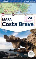 mapa costa brava (castellano) 9788484781523