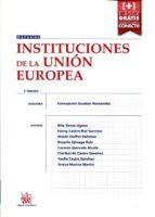 instituciones de la unión europea concepcion escobar hernandez 9788491192923