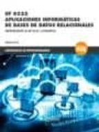 *UF 0322 Aplicaciones informáticas de bases de datos relacionales (CERTIFICADOS DE PROFESIONALIDAD)