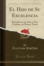El Hijo de Su Excelencia: Zarzuela en un Acto y Tres Cuadros, en Prosa y Verso (Classic Reprint)