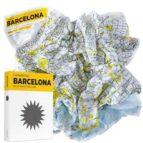 Palomar Crumpled City - Mapa de la ciudad Barcelona, multicolor