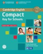 compact key for schools student s book without answers with cd-rom-9781107618633