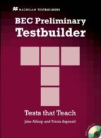 bec preliminary testbuilder with key (includes audio cd) jake allsop 9781405018333